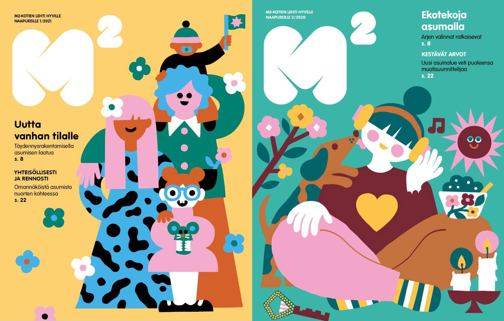 M2-Lehtiä